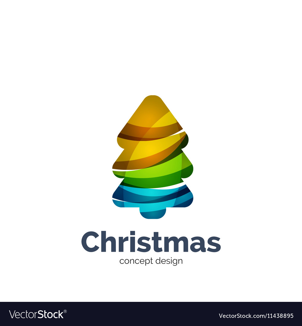 Abstract geometric Christmas tree icon Royalty Free Vector