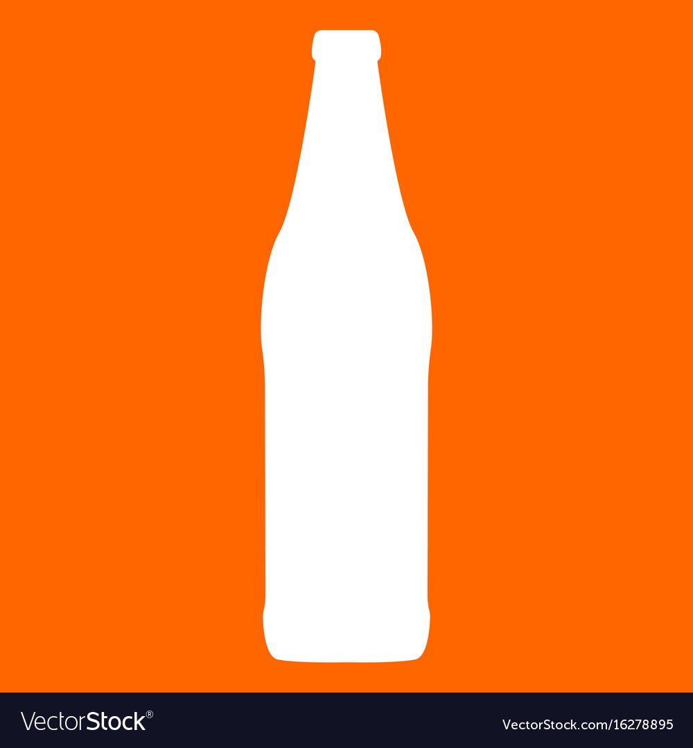 Beer bottle white icon