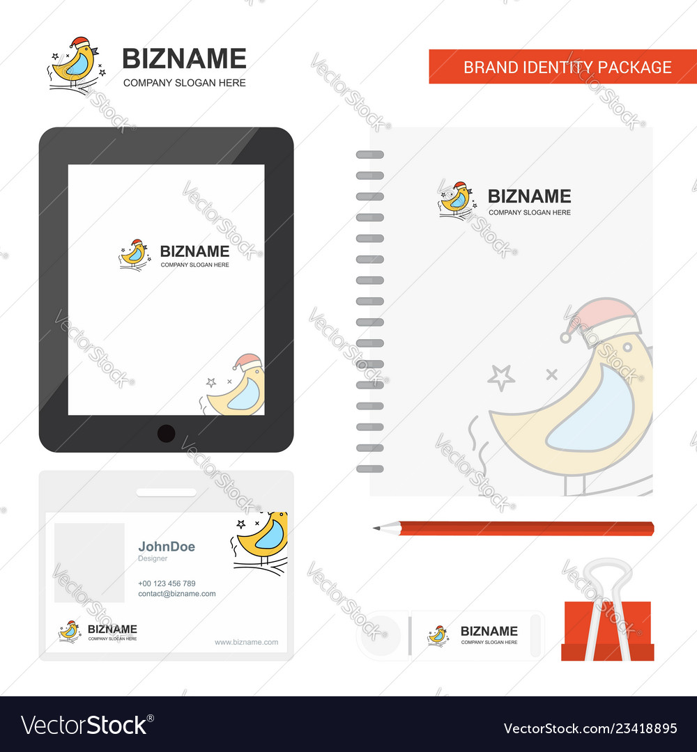 Bird business logo tab app diary pvc employee