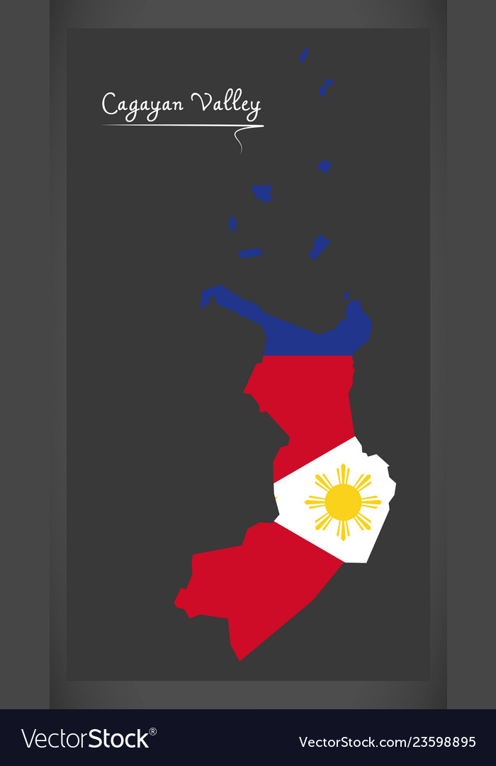 Cagayan Philippines Map.Cagayan Valley Map Of The Philippines With Vector Image