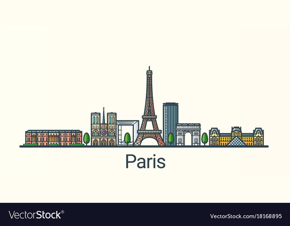 Flat line paris banner