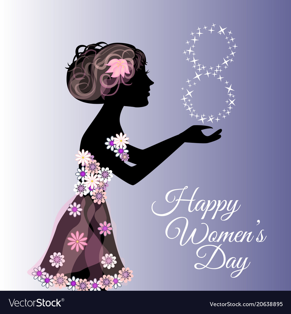 Greeting card or banner for 8 march happy womens