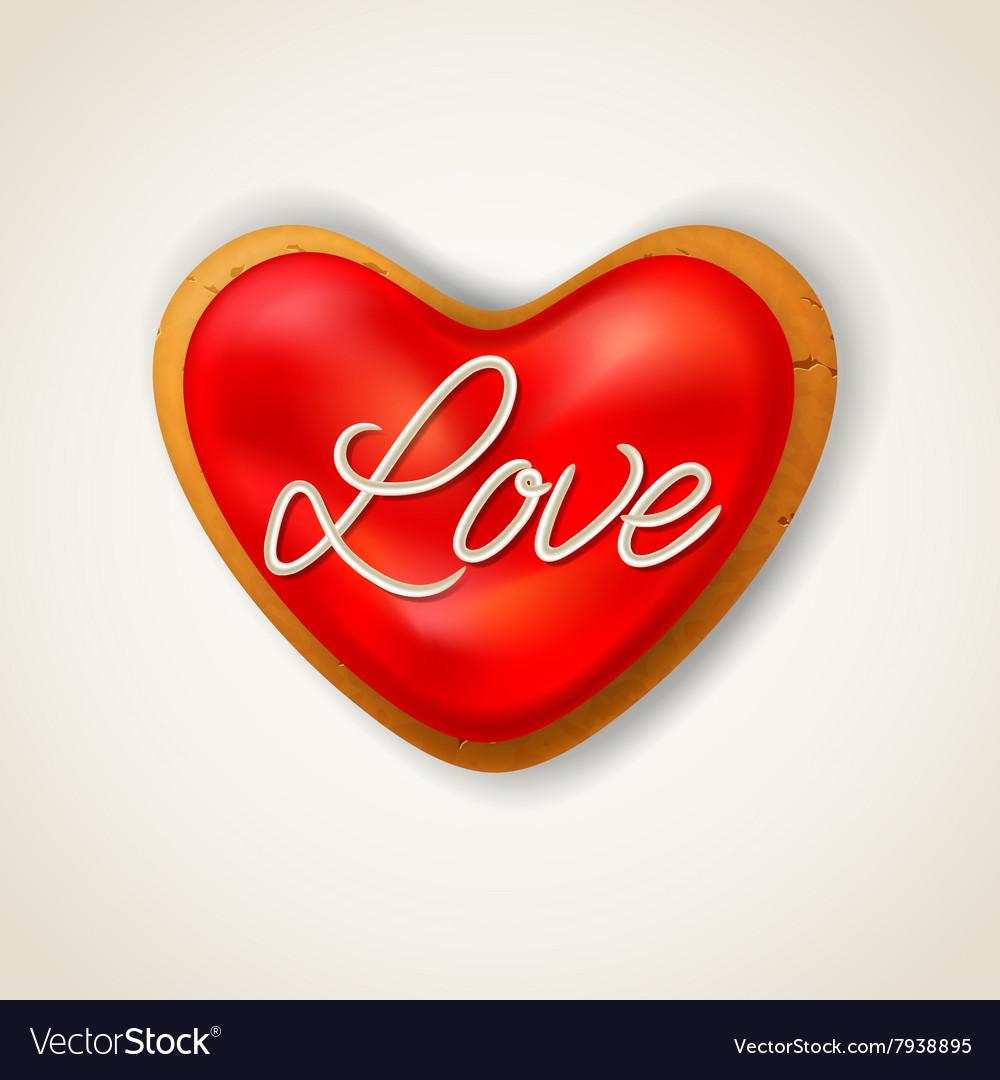 Happy valentines day heart cookie