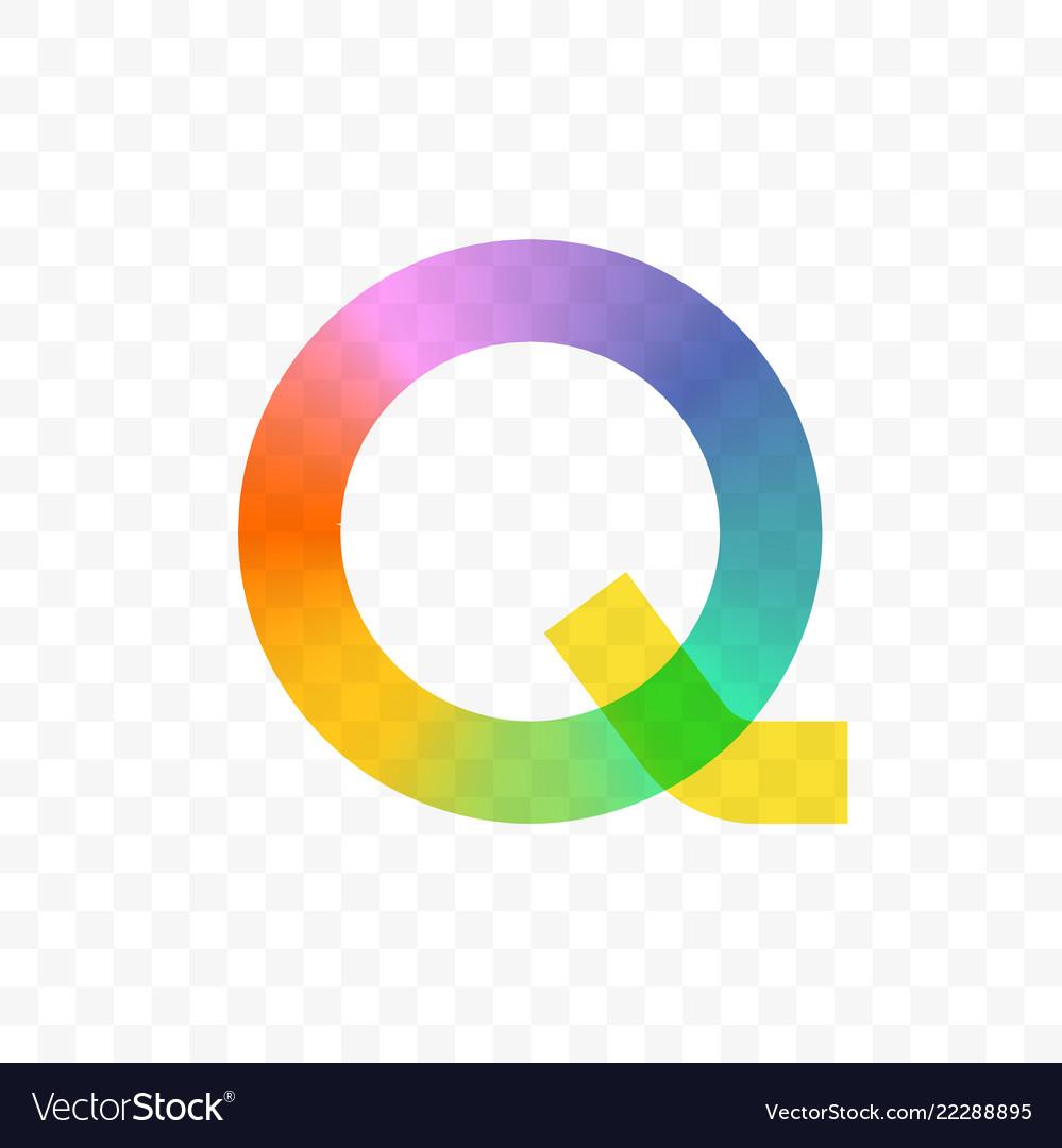 Letter q gradient mosaic icon