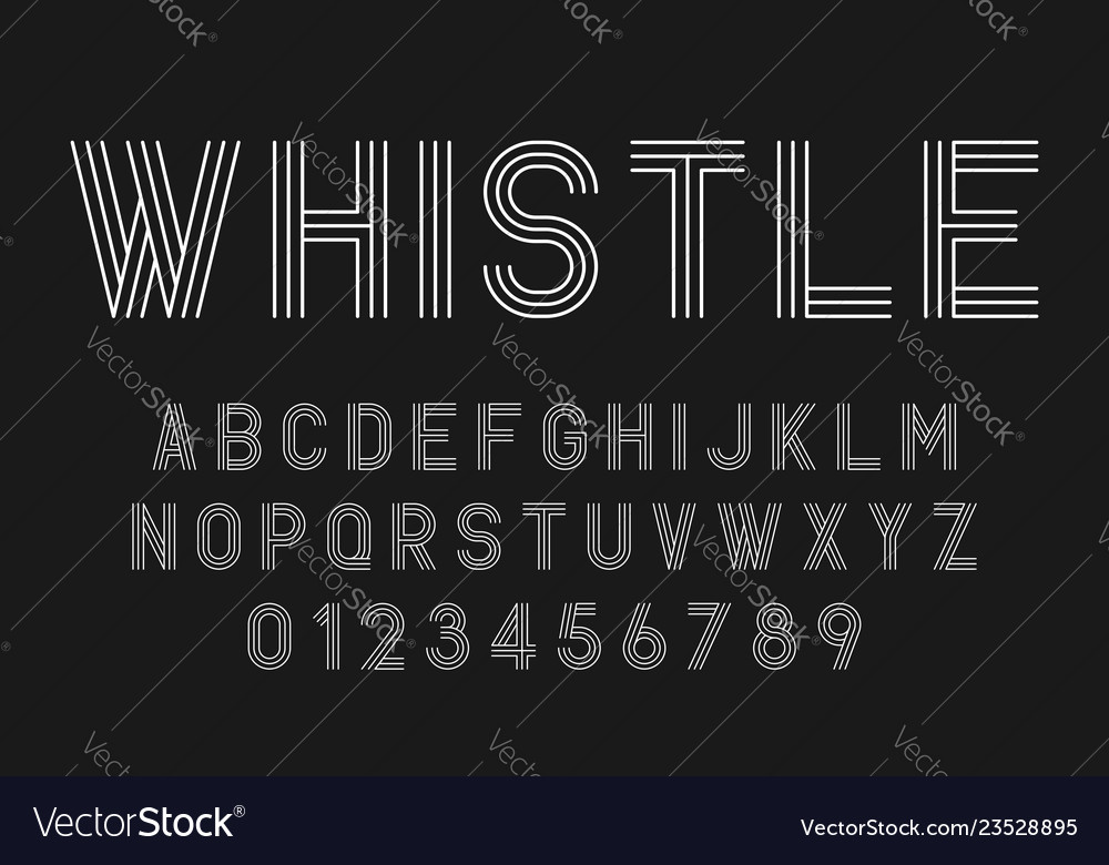 Set of alphabets fonts modern abstract design