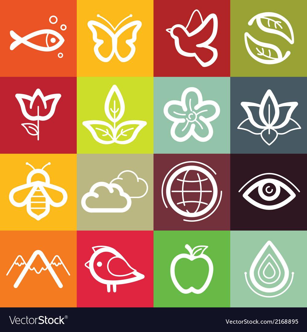 Set of design elements and logo symbols