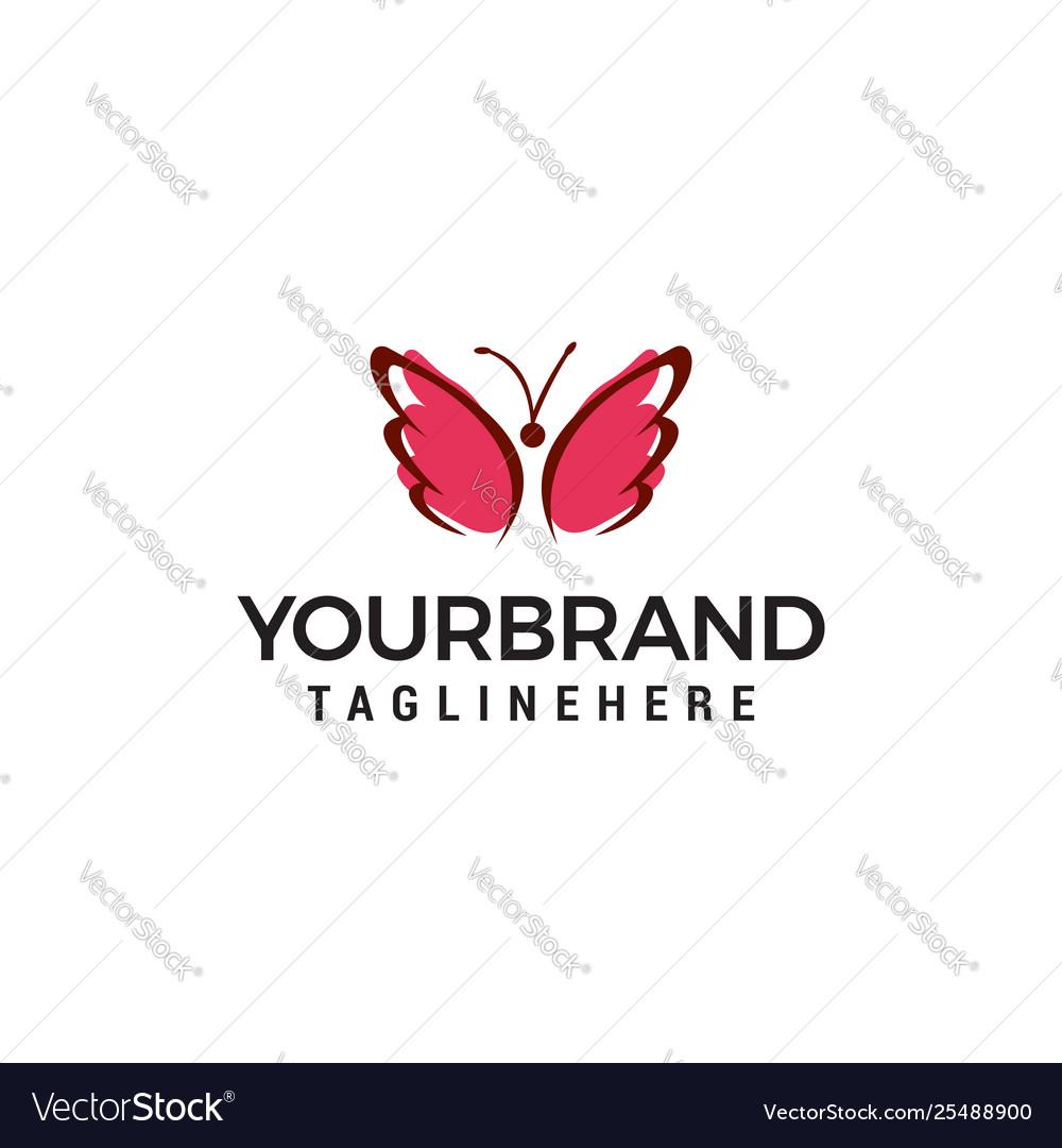Butterfly logo design concept template