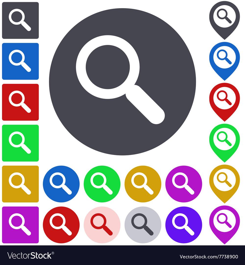 Color search icon set