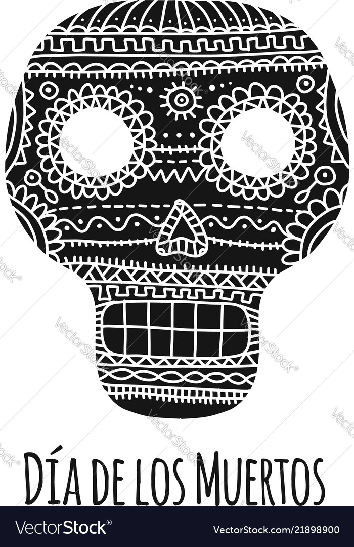 Day of the dead mexican sugar skull for your