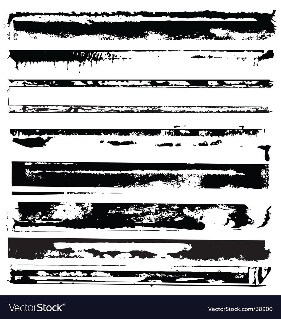 Distressed edges ii vector image