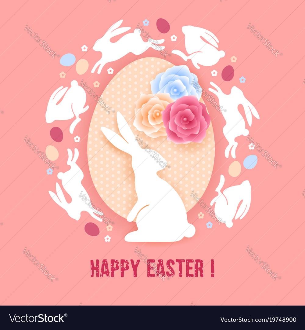 Happy easter congratulation