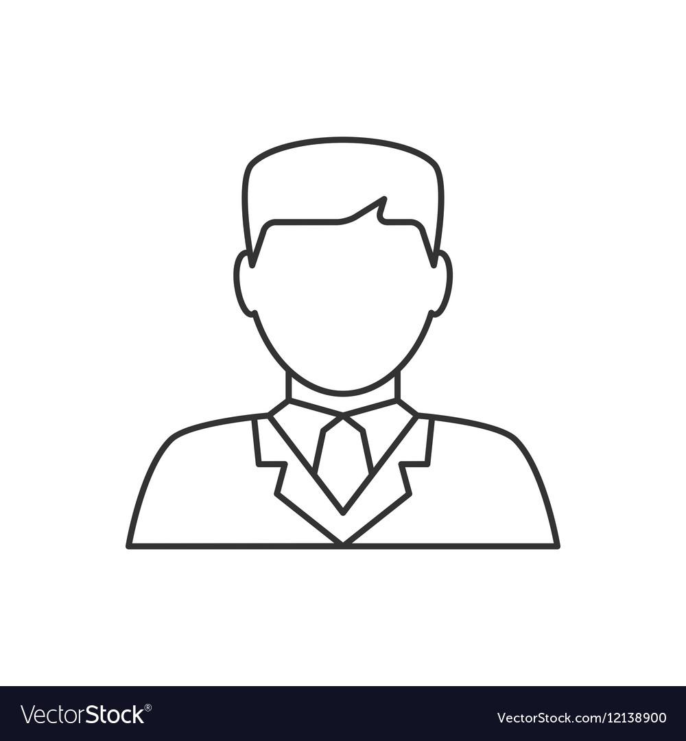 Lawyer avatar line icon