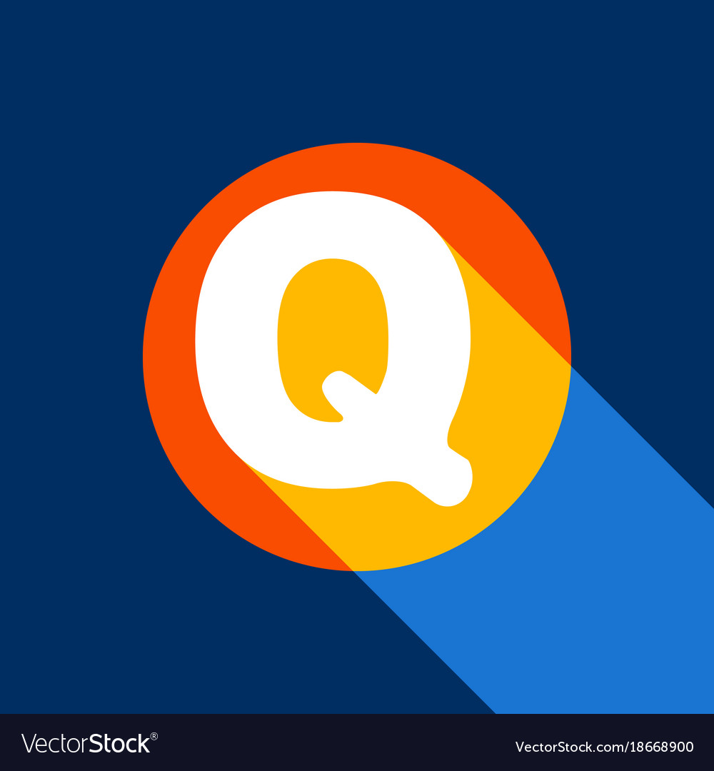 Letter q sign design template element