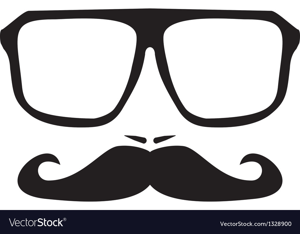 men face with mustache and black hipster glasses vector image rh vectorstock com glasses vector image glasses factory blaydon