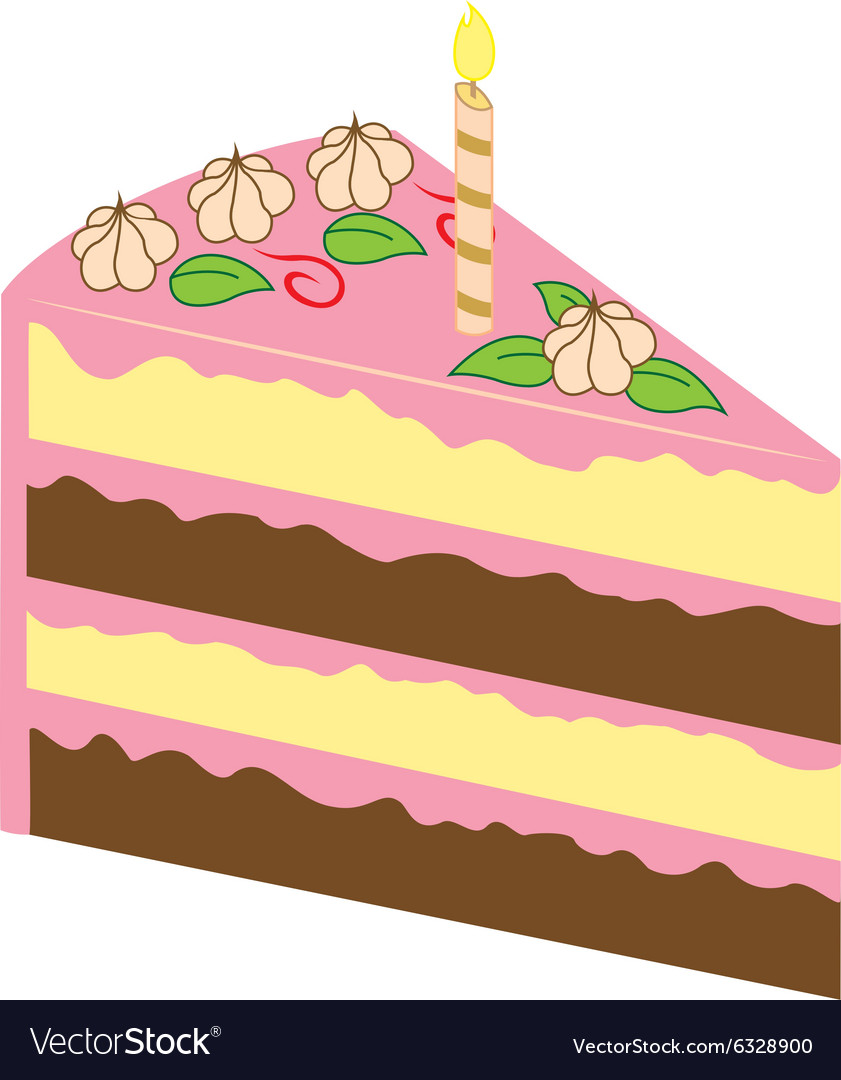 Fantastic Piece Of Birthday Cake Royalty Free Vector Image Personalised Birthday Cards Petedlily Jamesorg