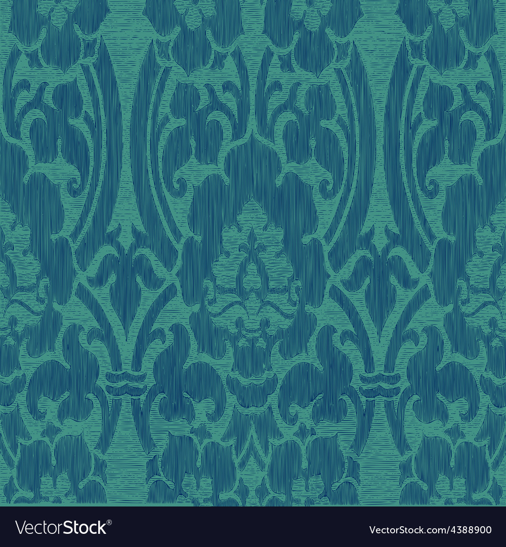 Seamless abstract striped floral pattern vintage