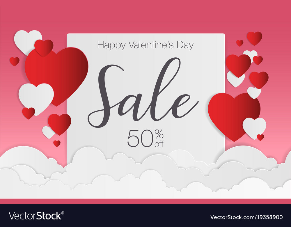 Valentines day sale background for poster