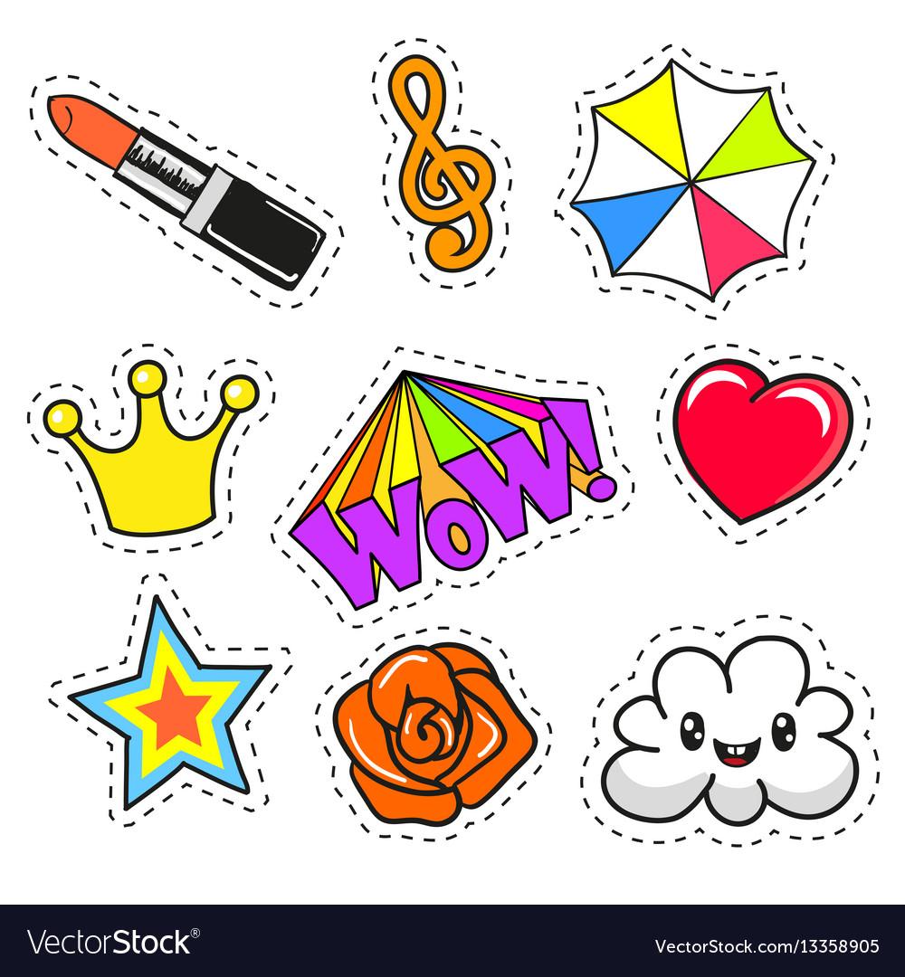 Cartoon patch badges