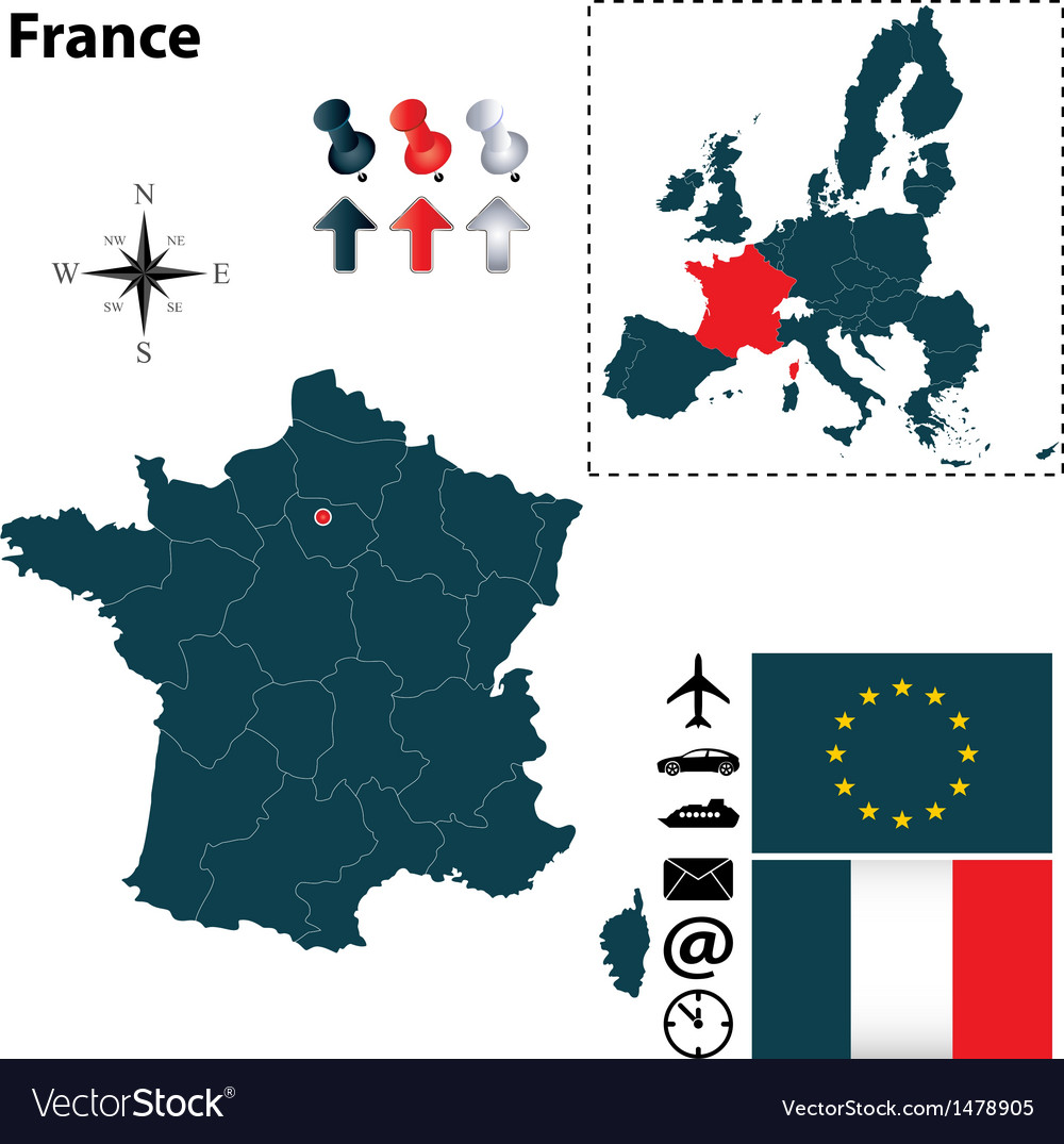 France and European Union map