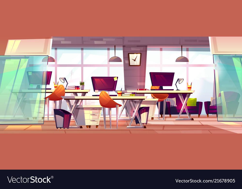Office workspace interior