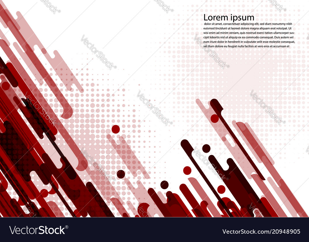 Red color geometric abstract background