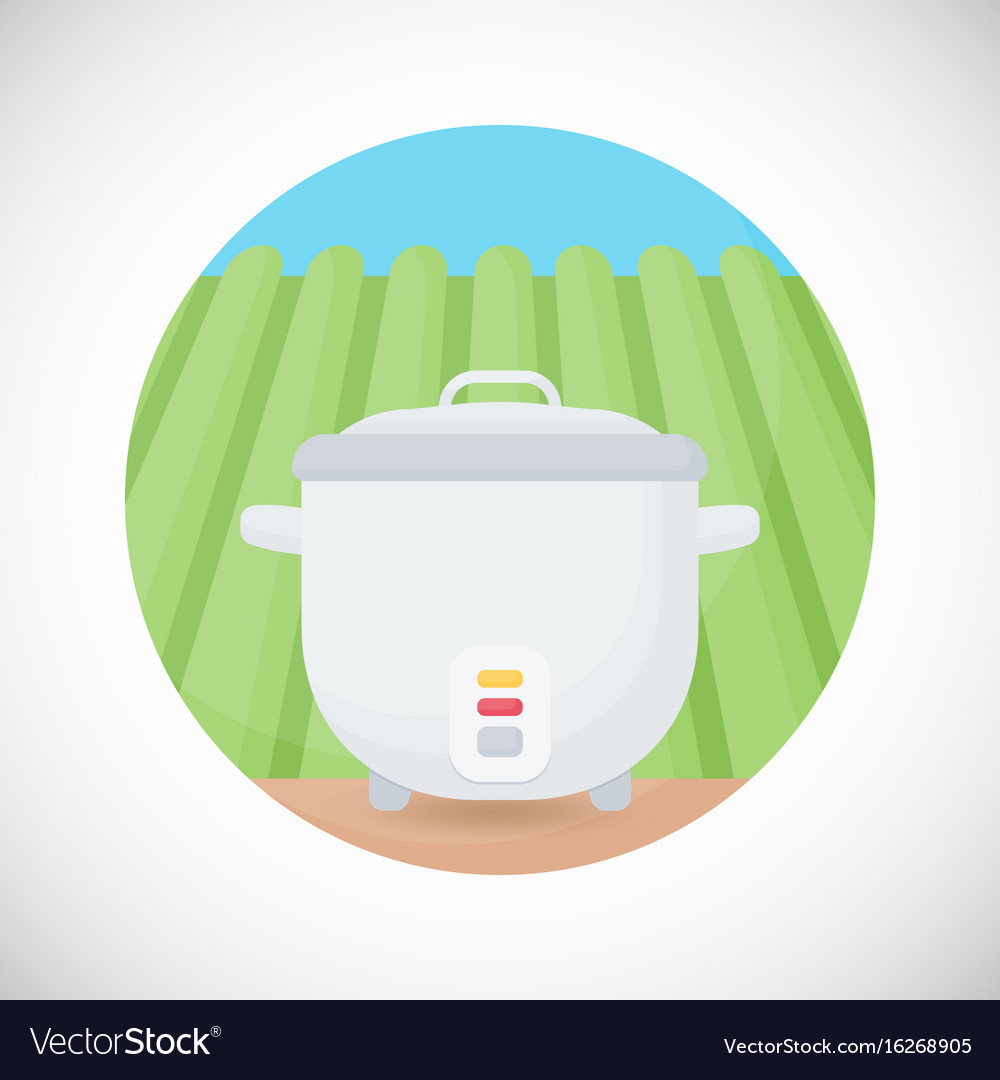 Rice cooker flat icon