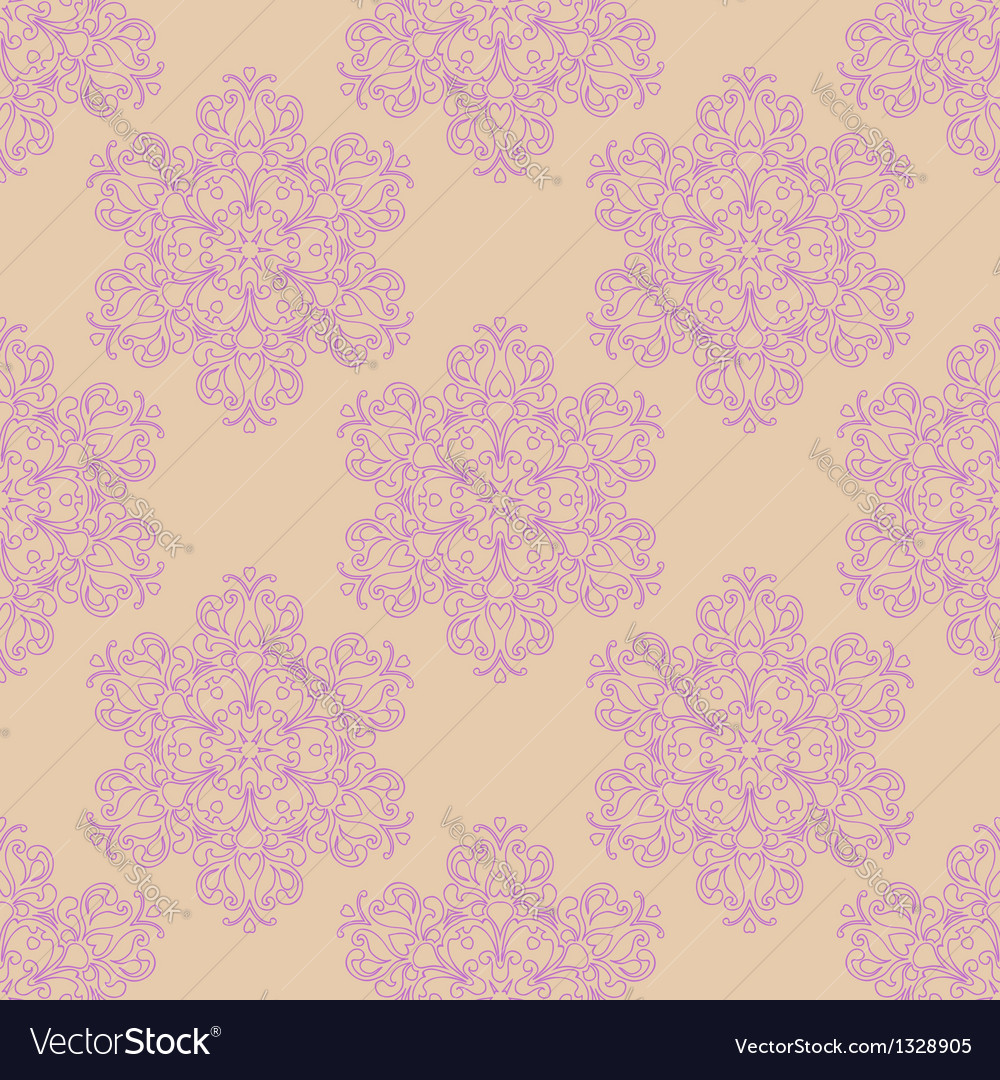 Seamless pattern with decorative flowers - irises
