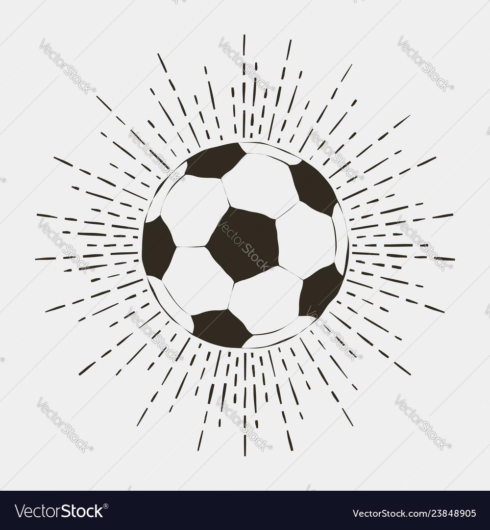 Soccer or futball ball print