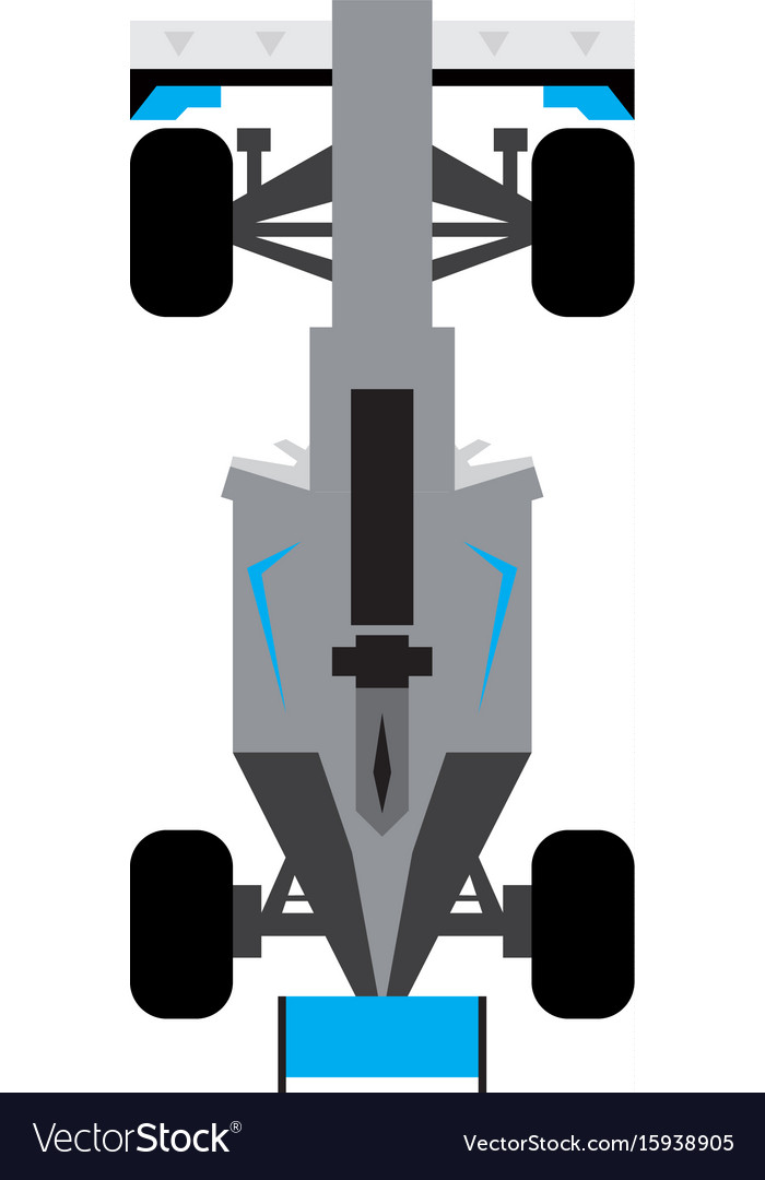 Top view of a racing car vector image