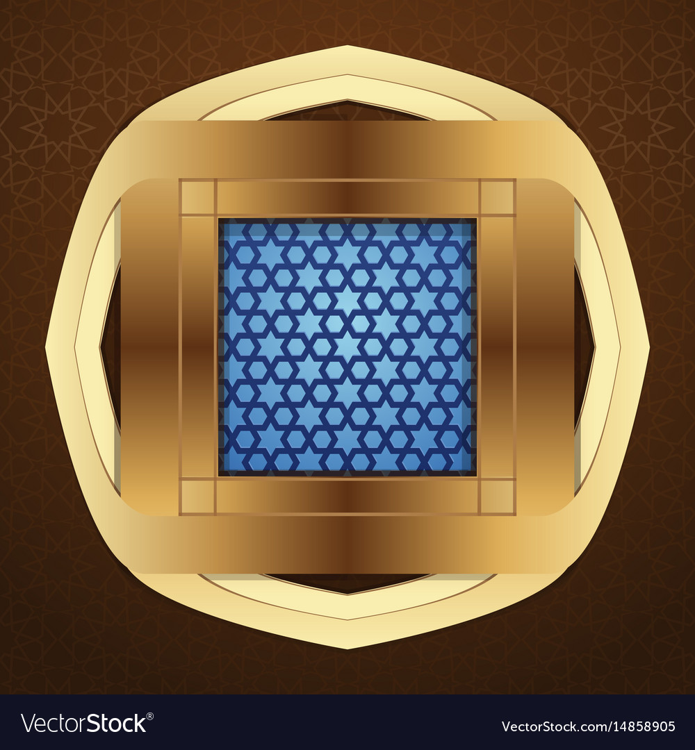Window with arabic pattern for islamic greeting vector image m4hsunfo