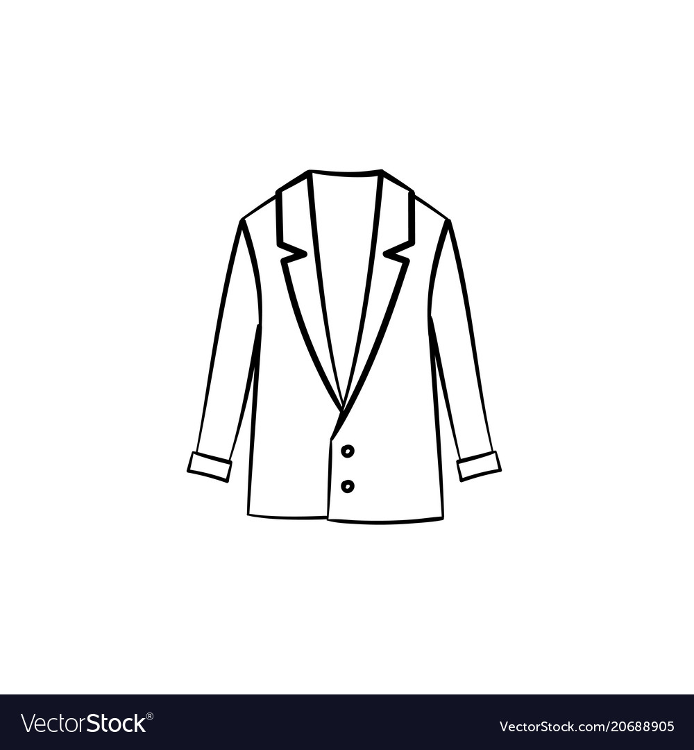 80aa8f72145 Wool coat hand drawn sketch icon Royalty Free Vector Image