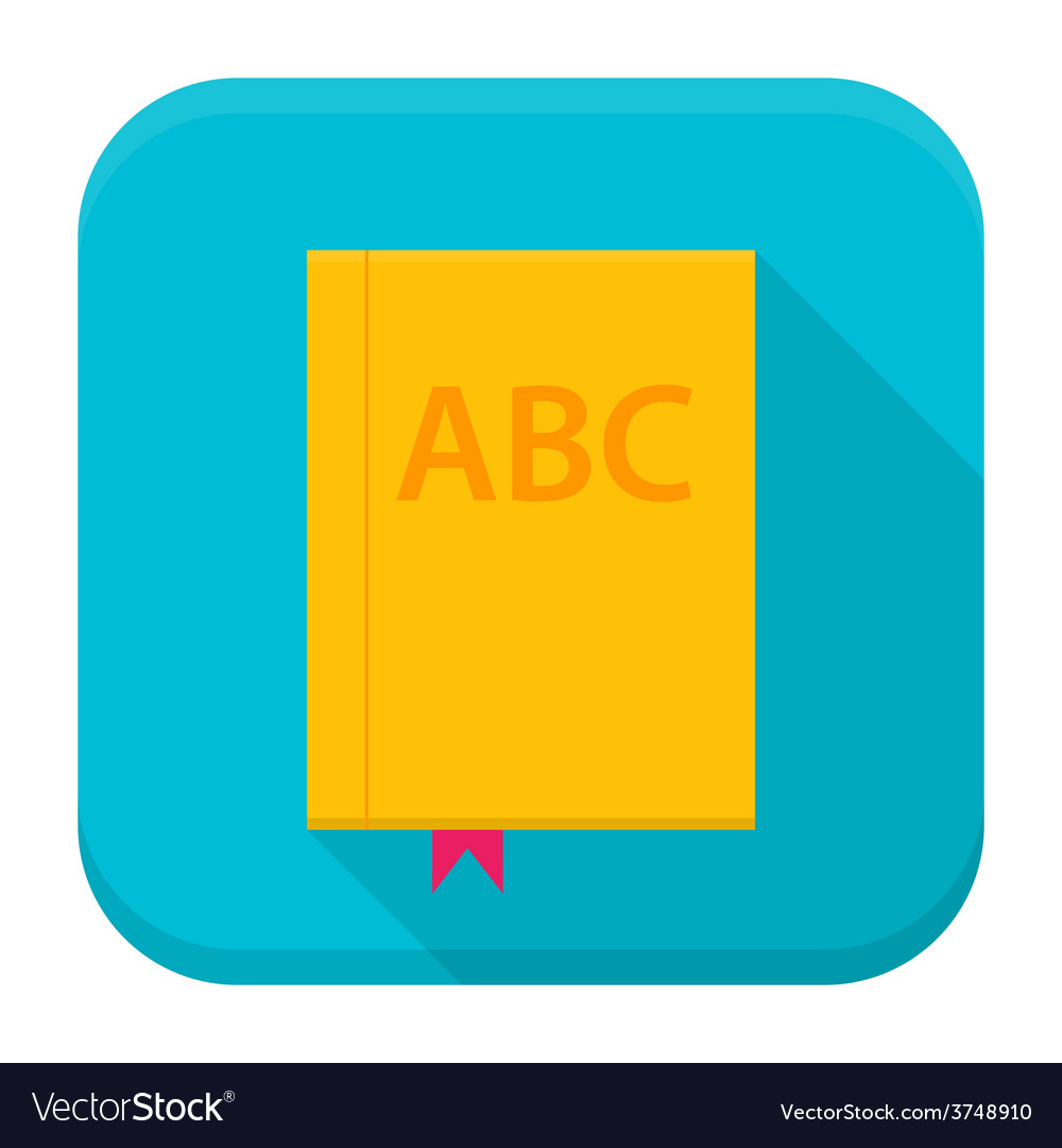 Book app icon with long shadow