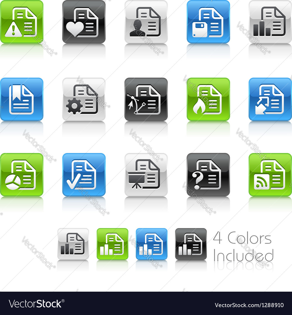 Document Icons 2 Clean Series vector image