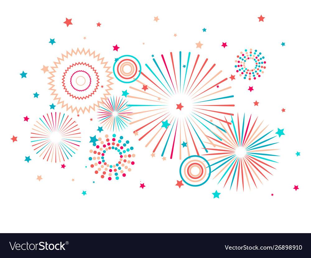 Fireworks festive background