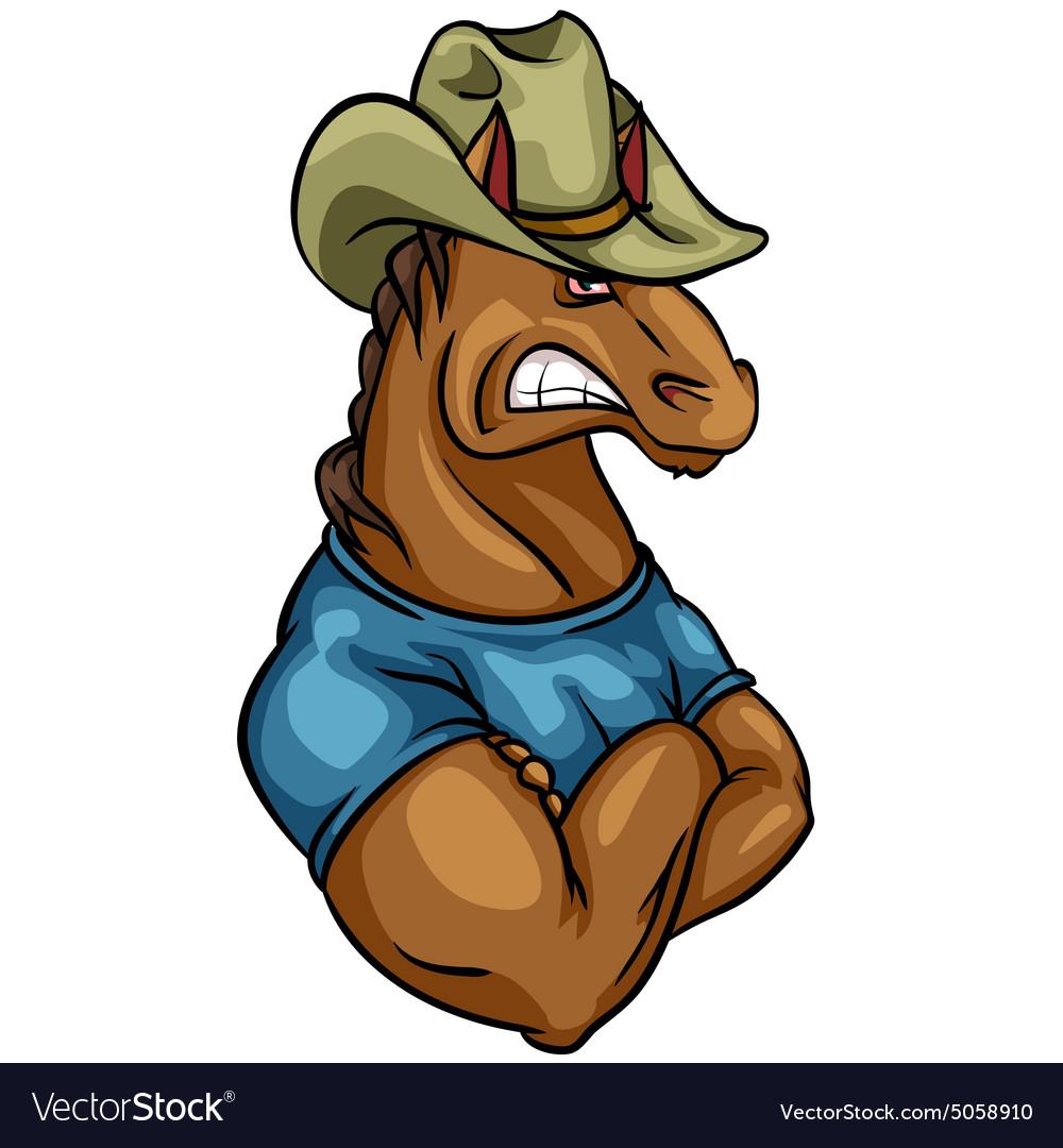 Horse mascot team label design