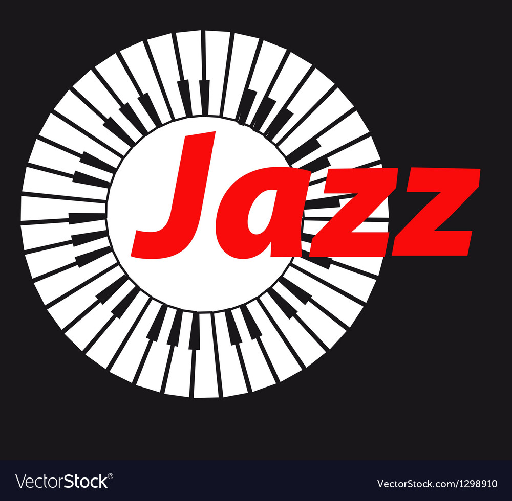 Jazz keyboard on dark background a