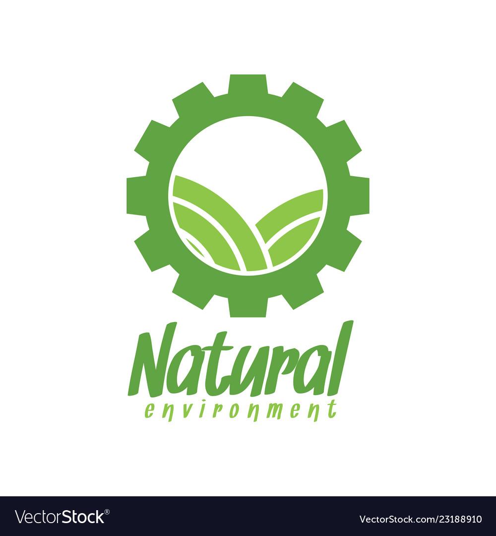 natural environment logo design inspiration vector image rh vectorstock com