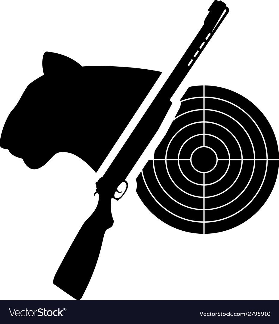 Puma gun and target vector image