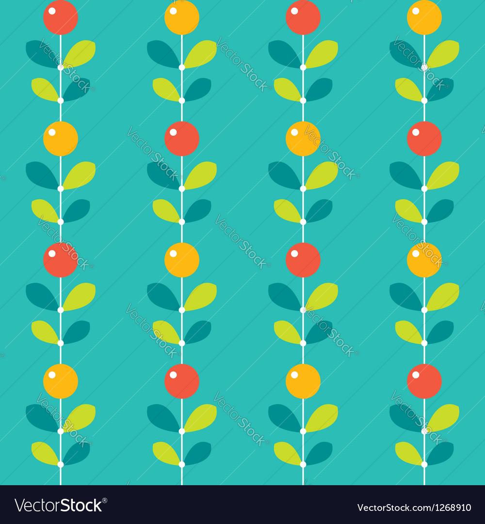 Seamless stylized berries pattern