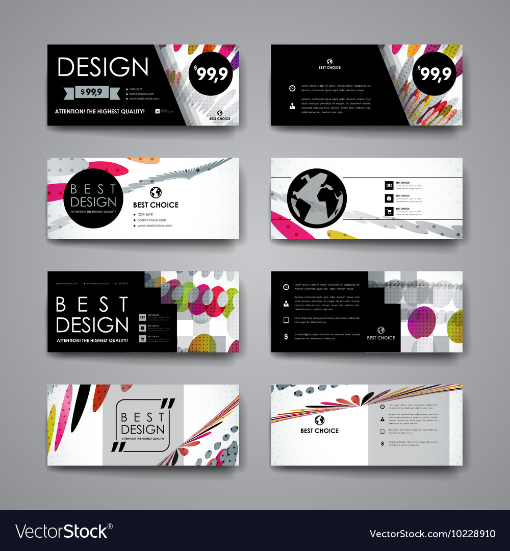 Set of modern design banner template in abstract