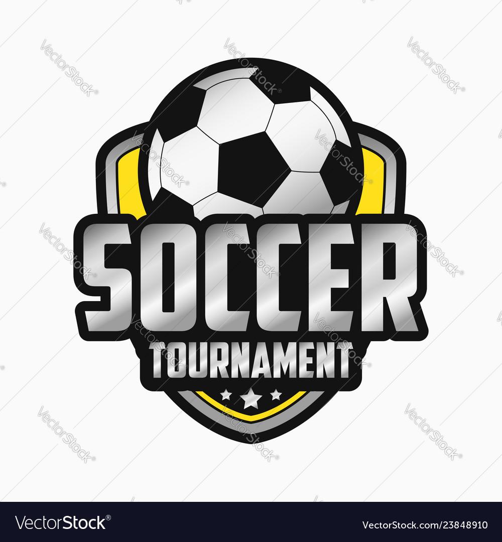 Soccer logo design sports emblems