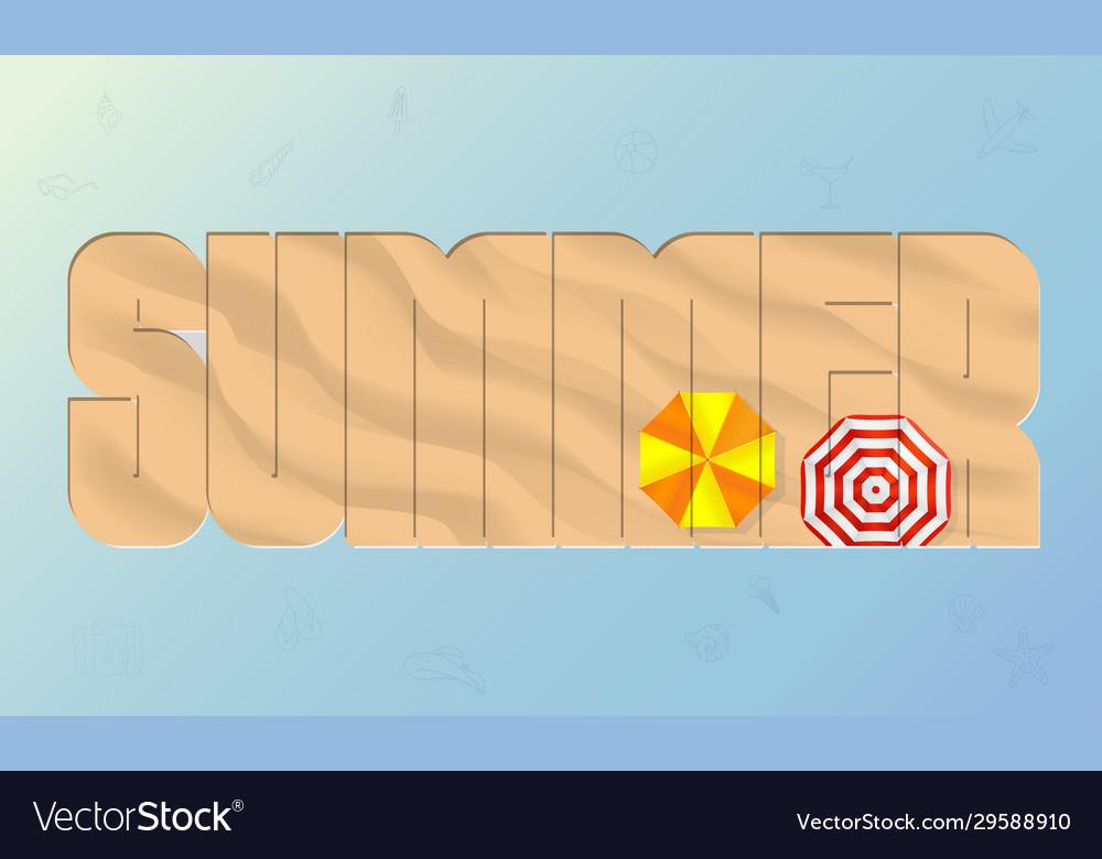 Summer beach sand background top view mesh