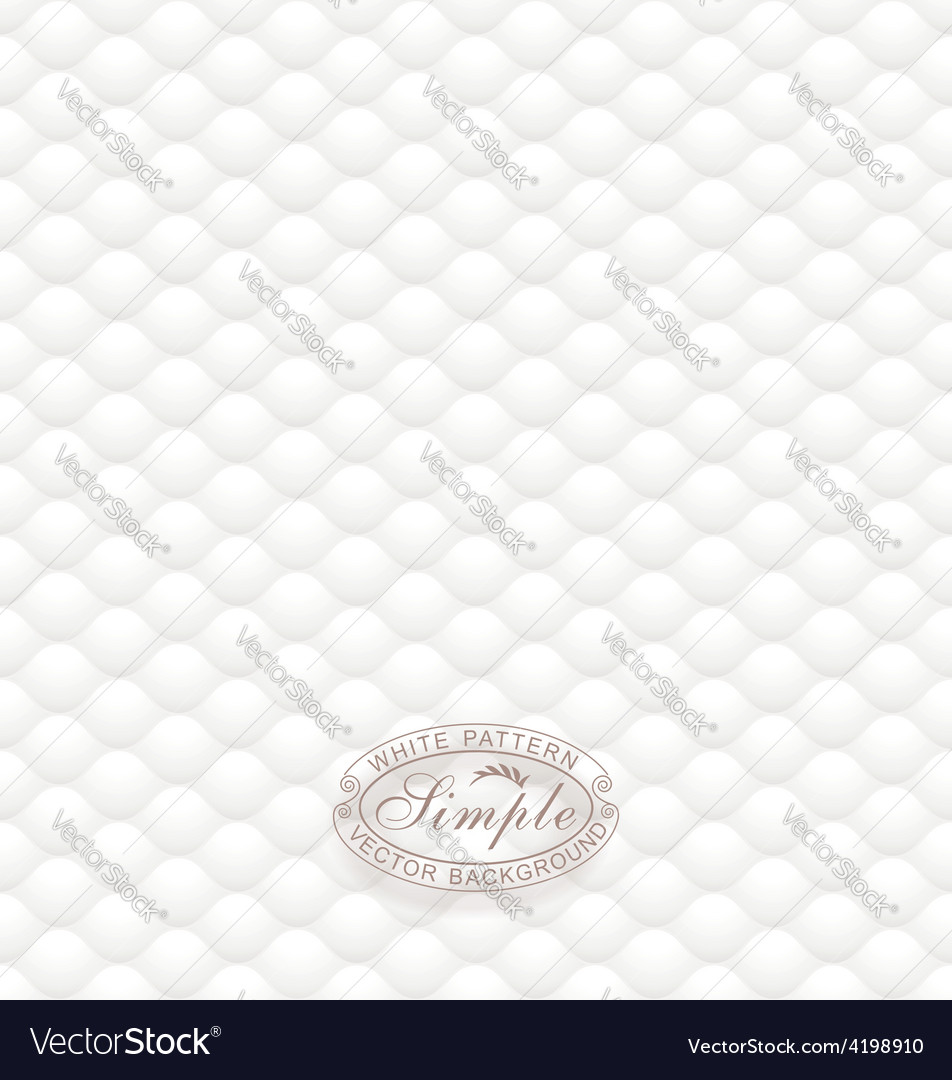 White Textured Wallpaper Vector Image