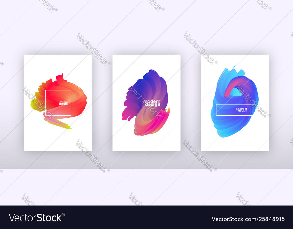 Abstract fluid gradient background set