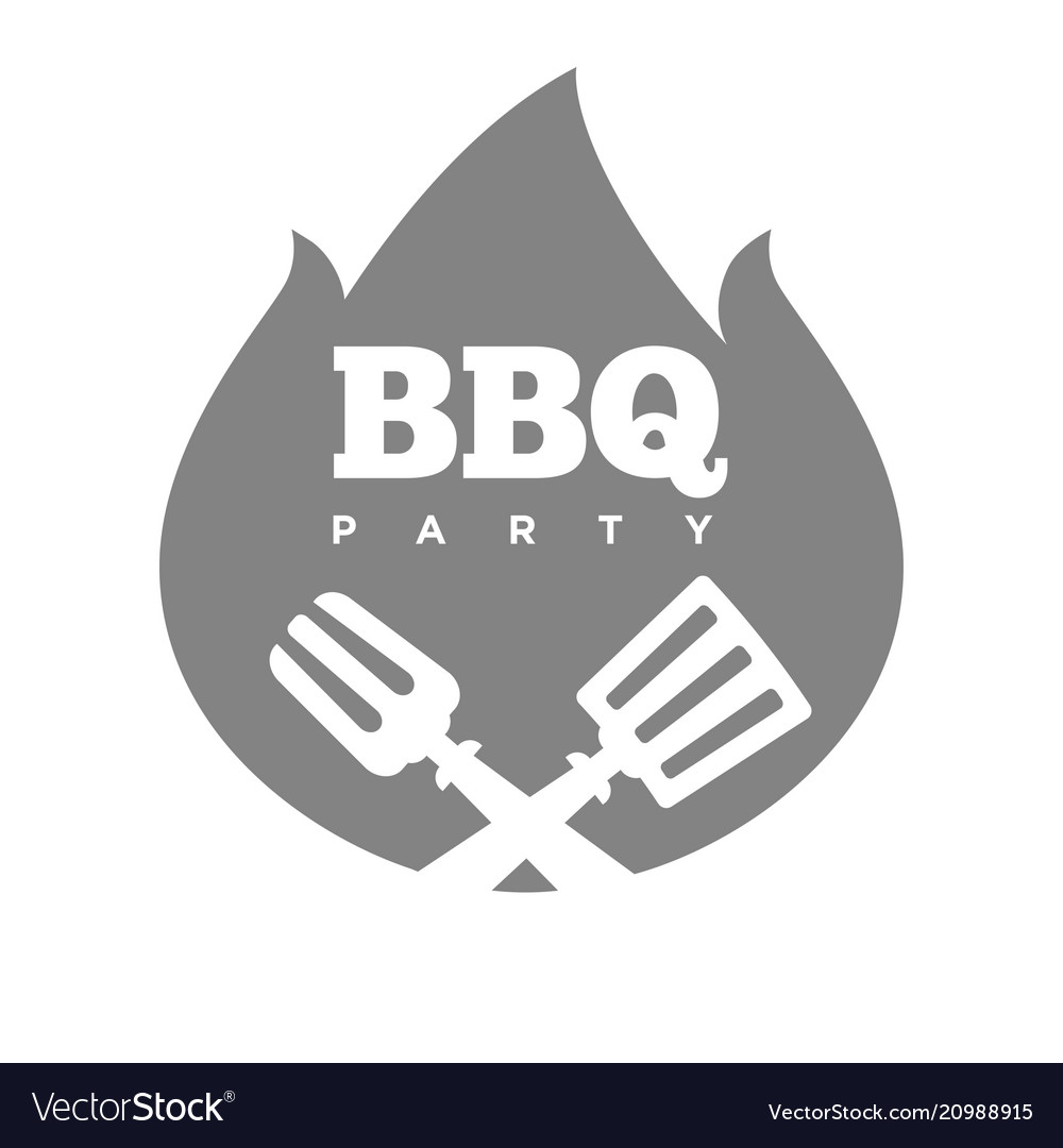 Barbecue or grill party fire flame icon