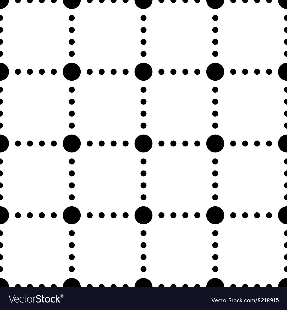 Black and white dotted squares simple seamless