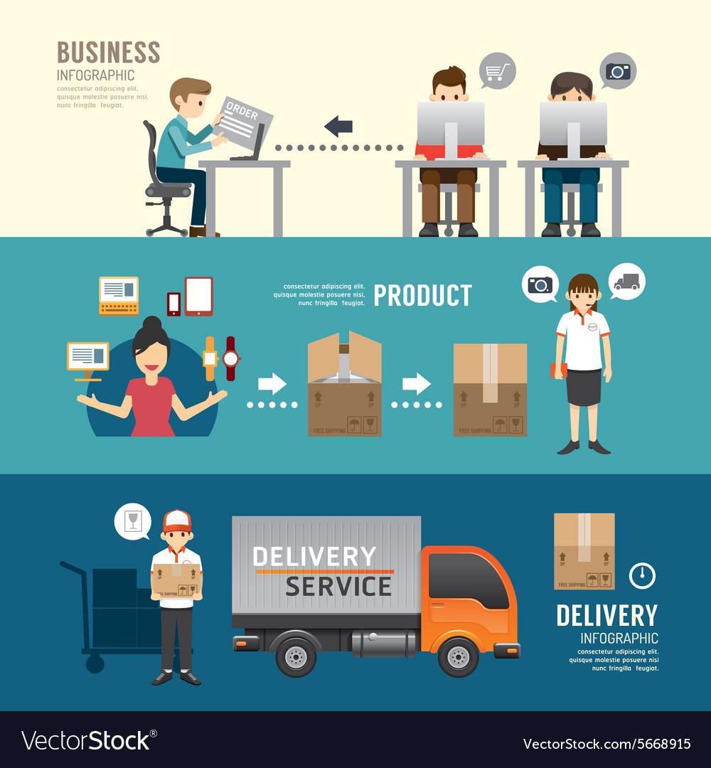 Business design e-shopping concept people set