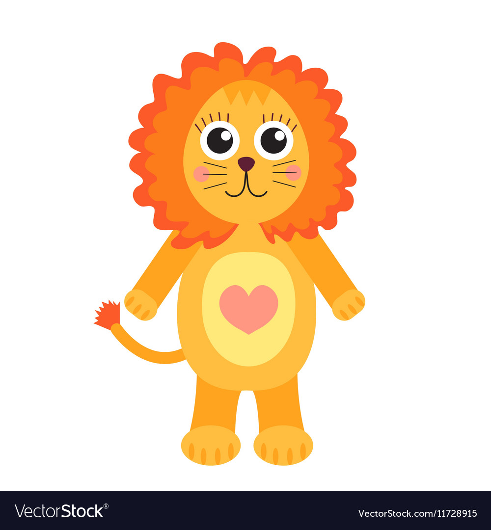 Cute cartoon character lion Children s toy lion
