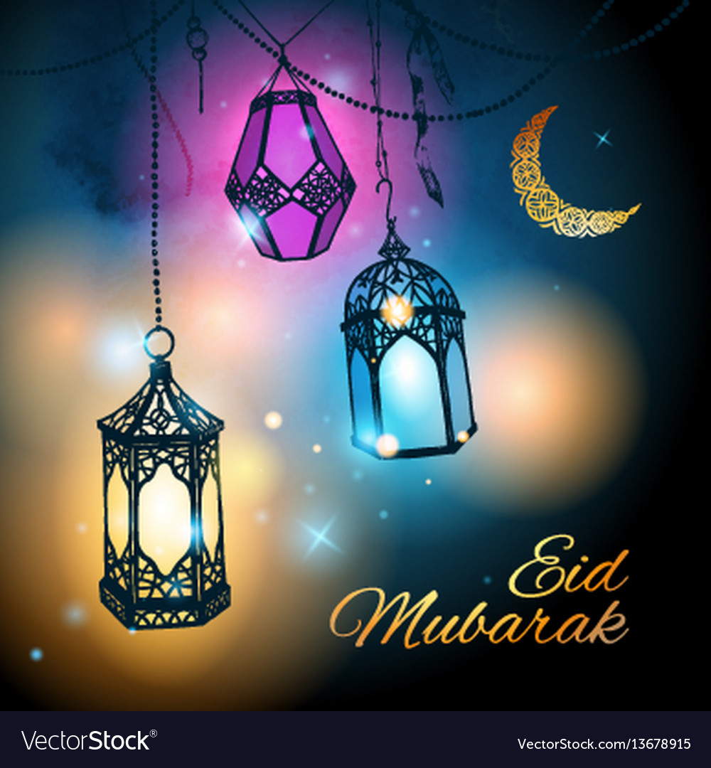 Eid mubarak greeting card template royalty free vector image eid mubarak greeting card template vector image m4hsunfo