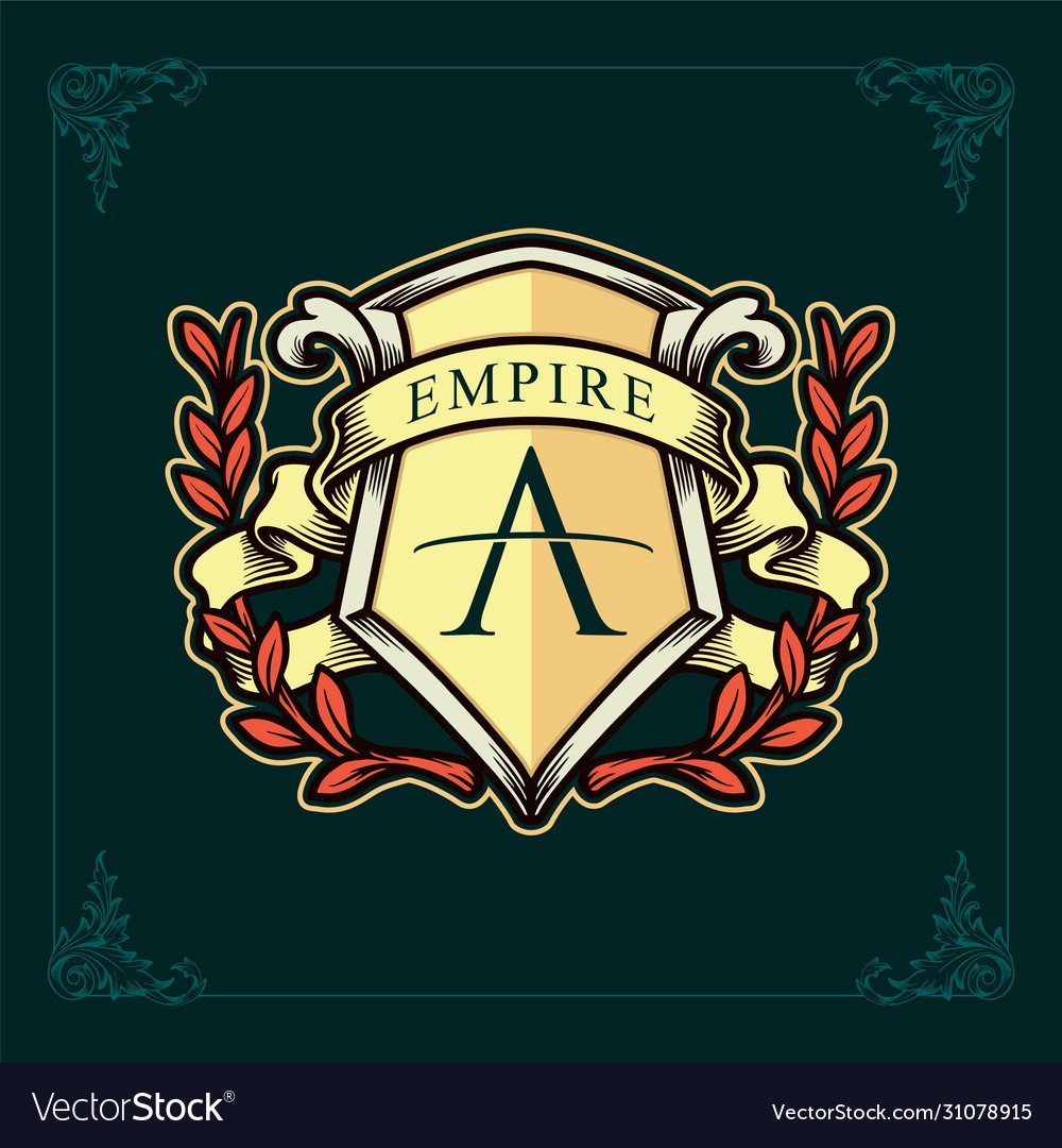 Empire brand logo kingdom and ribbon
